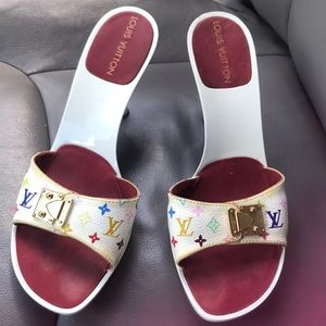 Louis Vuitton multicolor heels